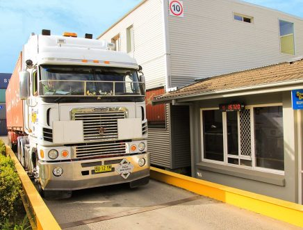 container freight station weigh bridge facilities
